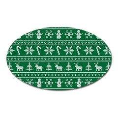 Ugly Christmas Oval Magnet