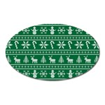 Ugly Christmas Oval Magnet Front
