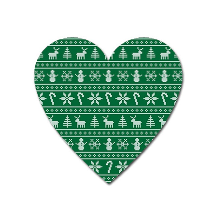 Ugly Christmas Heart Magnet