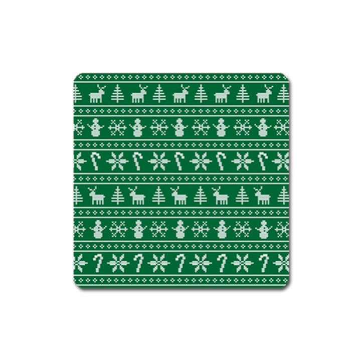 Ugly Christmas Square Magnet