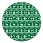 Ugly Christmas Magnet 5  (Round) Front