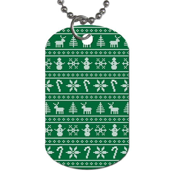 Ugly Christmas Dog Tag (One Side)