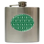 Ugly Christmas Hip Flask (6 oz) Front
