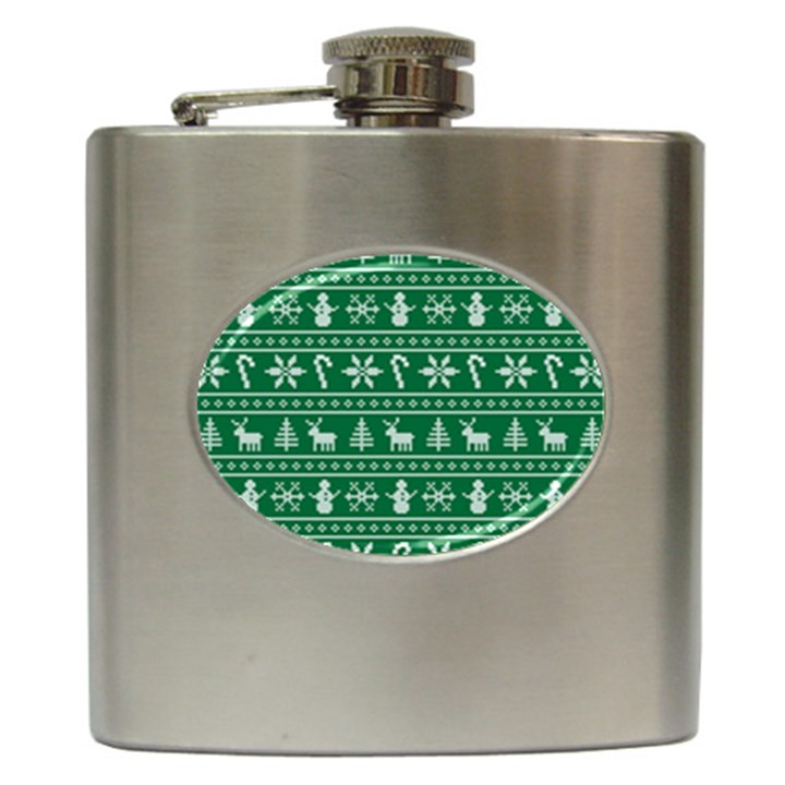 Ugly Christmas Hip Flask (6 oz)