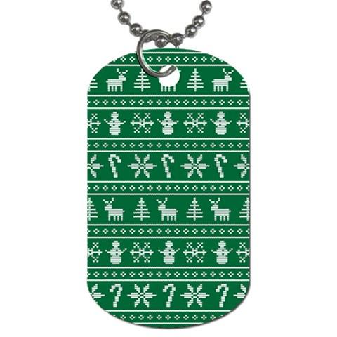 Ugly Christmas Dog Tag (Two Sides)