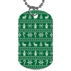 Ugly Christmas Dog Tag (Two Sides)