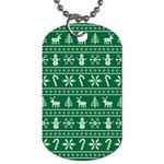 Ugly Christmas Dog Tag (Two Sides) Front