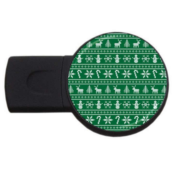 Ugly Christmas USB Flash Drive Round (1 GB)