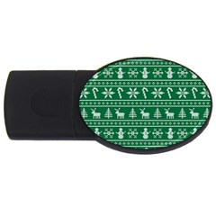 Ugly Christmas USB Flash Drive Oval (1 GB)