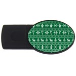 Ugly Christmas USB Flash Drive Oval (1 GB)  Front