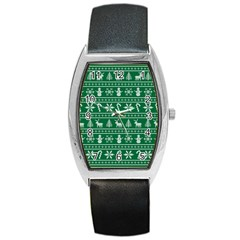 Ugly Christmas Barrel Style Metal Watch