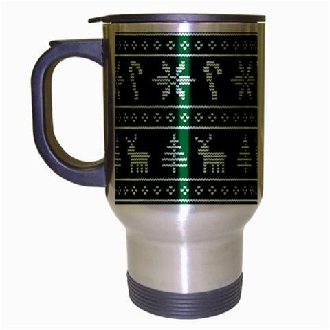 Ugly Christmas Travel Mug (Silver Gray)