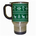 Ugly Christmas Travel Mugs (White) Left