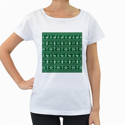 Ugly Christmas Women s Loose-Fit T-Shirt (White)