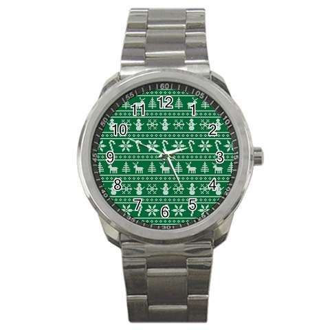 Ugly Christmas Sport Metal Watch