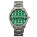 Ugly Christmas Sport Metal Watch Front