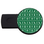 Ugly Christmas USB Flash Drive Round (4 GB)  Front