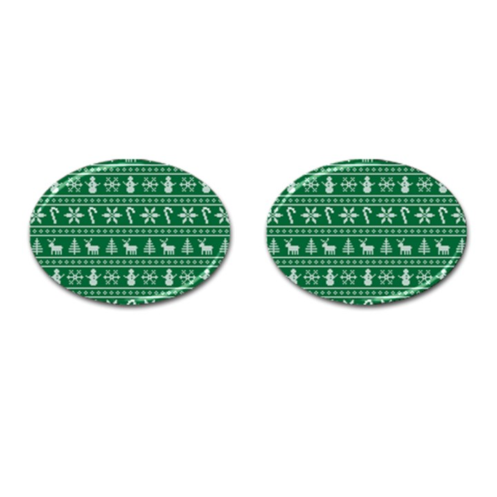 Ugly Christmas Cufflinks (Oval)