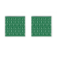 Ugly Christmas Cufflinks (Square)
