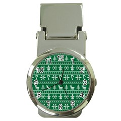 Ugly Christmas Money Clip Watches