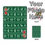 Ugly Christmas Playing Cards 54 Designs  Front - DiamondA