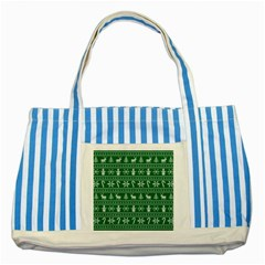 Ugly Christmas Striped Blue Tote Bag