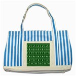 Ugly Christmas Striped Blue Tote Bag Front