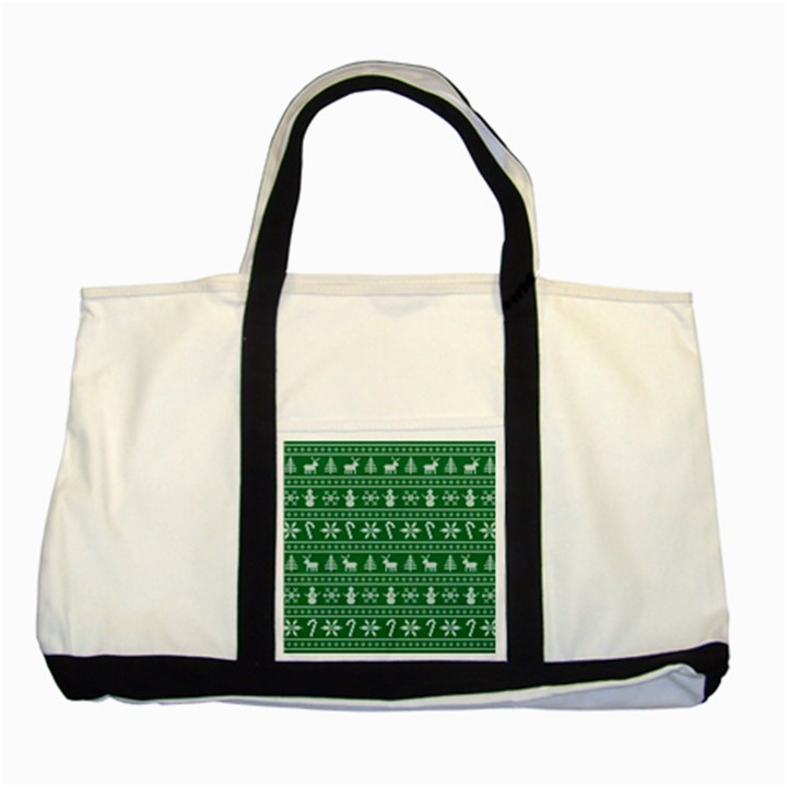 Ugly Christmas Two Tone Tote Bag