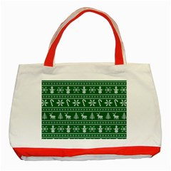 Ugly Christmas Classic Tote Bag (Red)