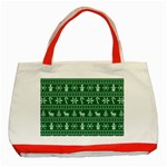 Ugly Christmas Classic Tote Bag (Red) Front