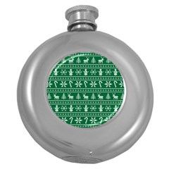 Ugly Christmas Round Hip Flask (5 oz)