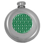 Ugly Christmas Round Hip Flask (5 oz) Front