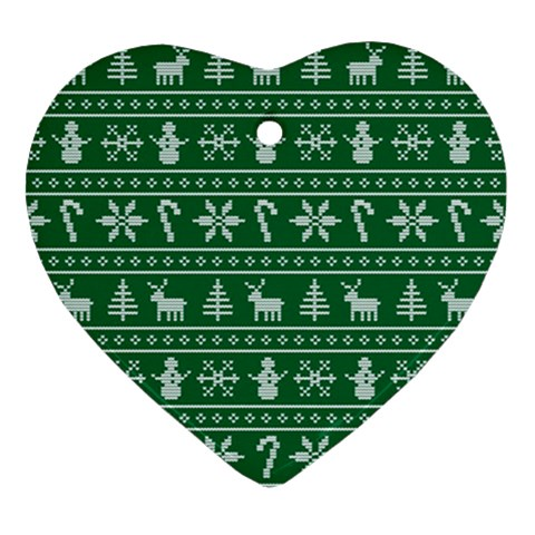 Ugly Christmas Heart Ornament (2 Sides)