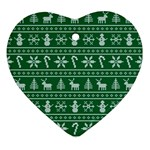 Ugly Christmas Heart Ornament (2 Sides) Back