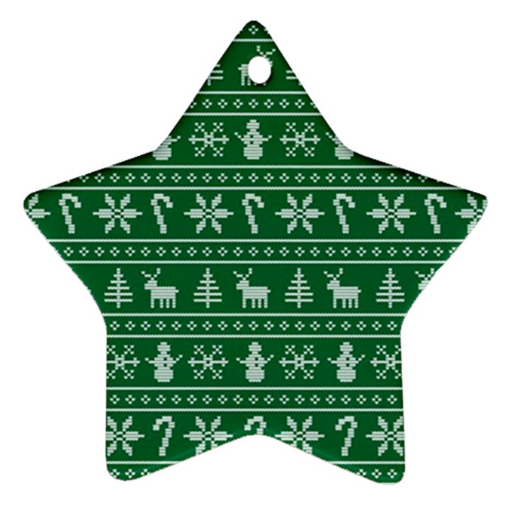 Ugly Christmas Star Ornament (Two Sides)