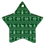 Ugly Christmas Star Ornament (Two Sides)  Back
