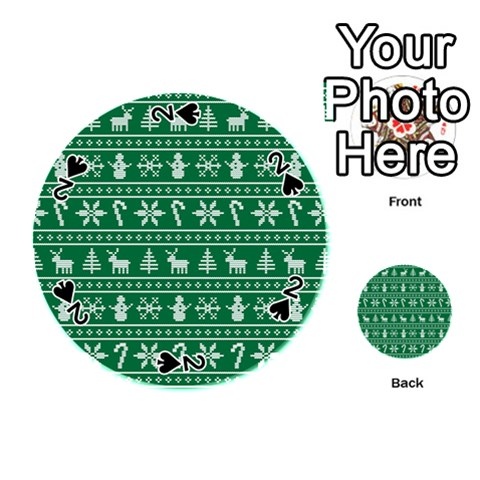 Ugly Christmas Playing Cards 54 (Round)