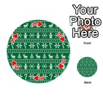 Ugly Christmas Playing Cards 54 (Round)  Front - Heart9