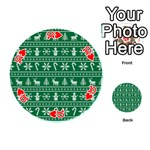 Ugly Christmas Playing Cards 54 (Round)  Front - Heart10