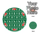 Ugly Christmas Playing Cards 54 (Round)  Front - HeartQ