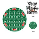 Ugly Christmas Playing Cards 54 (Round)  Front - HeartK