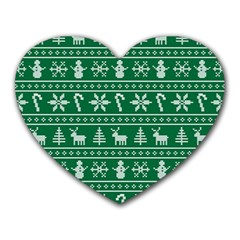 Ugly Christmas Heart Mousepads