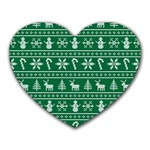 Ugly Christmas Heart Mousepads Front