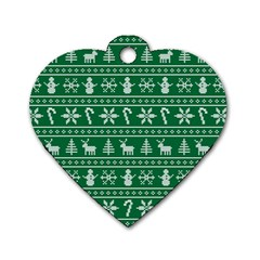 Ugly Christmas Dog Tag Heart (One Side)