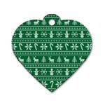 Ugly Christmas Dog Tag Heart (Two Sides) Front