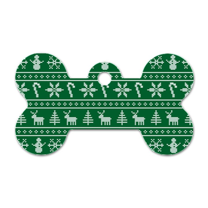Ugly Christmas Dog Tag Bone (One Side)