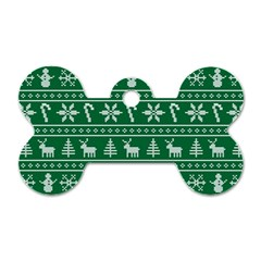 Ugly Christmas Dog Tag Bone (Two Sides)