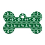 Ugly Christmas Dog Tag Bone (Two Sides) Front
