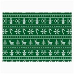 Ugly Christmas Large Glasses Cloth Front