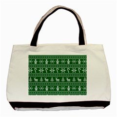Ugly Christmas Basic Tote Bag (Two Sides)